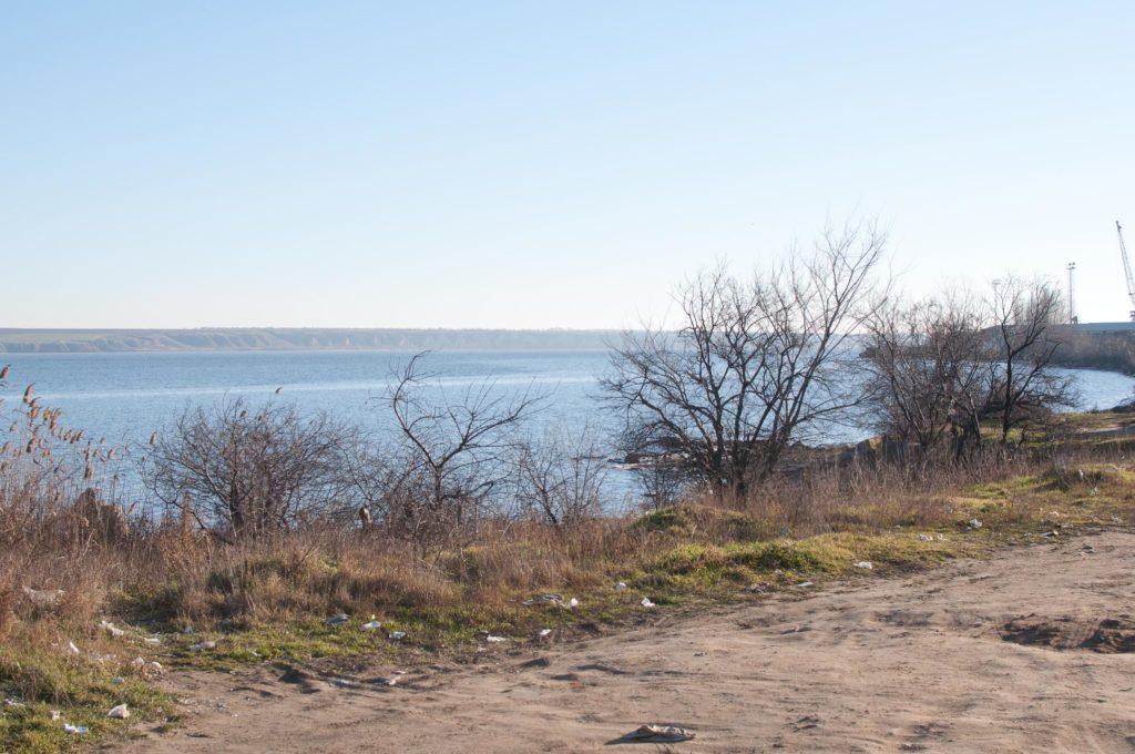 Проектное место двухярусного моста выше акватории Белгород-Днестровского порта